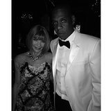 She got Anna Wintour and Jay Z together for a photo.  Source: Instagram user kimkardashian