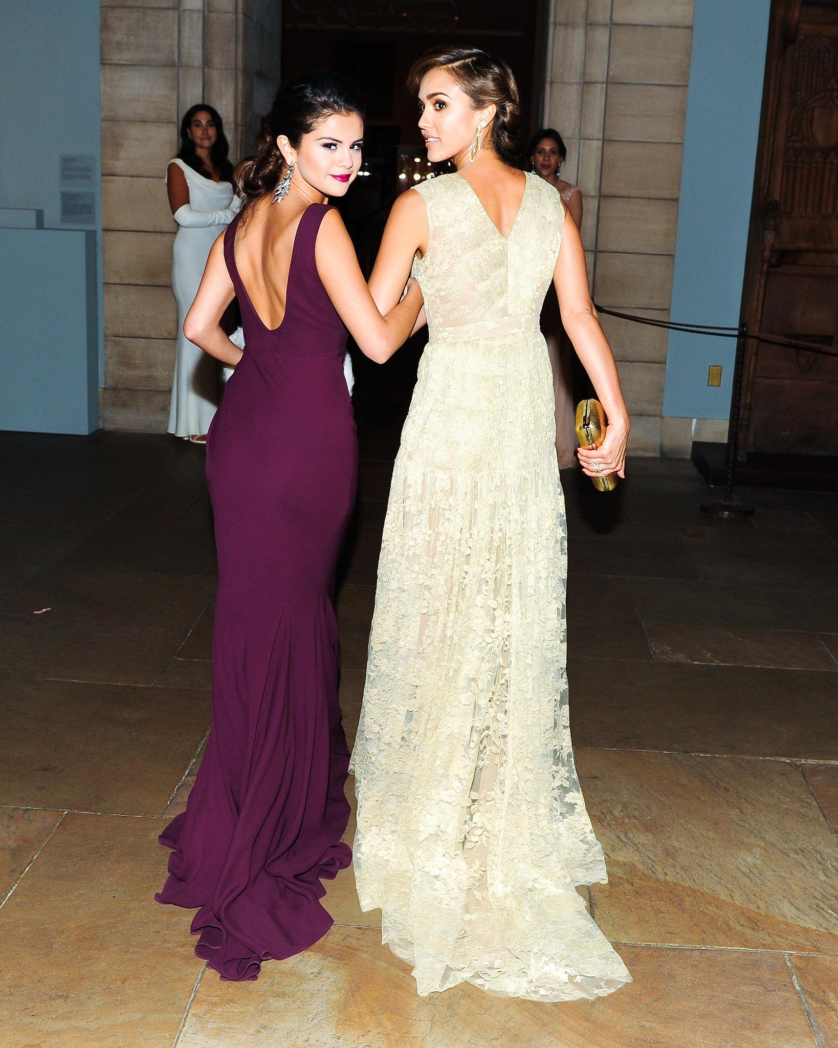 Selena Gomez And Jessica Alba Walked Arm In Arm Go