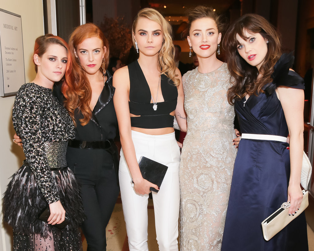 Kristen Stewart, Riley Keough, Cara Delevingne, Amber Heard, and Zooey Deschanel