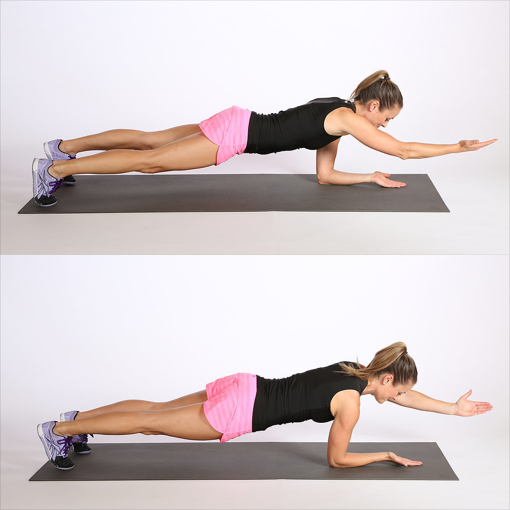Circuit Two: Elbow Plank With Alternating Arm Reach