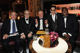 Johnny sat with Robert De Niro, Martin Scorsese, Regis Philbin, and Tracy Morgan.
