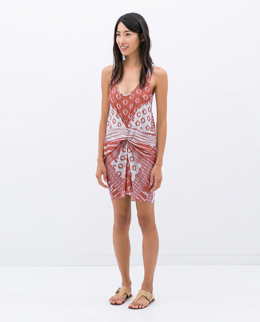Zara Printed Gather Dress ($50)