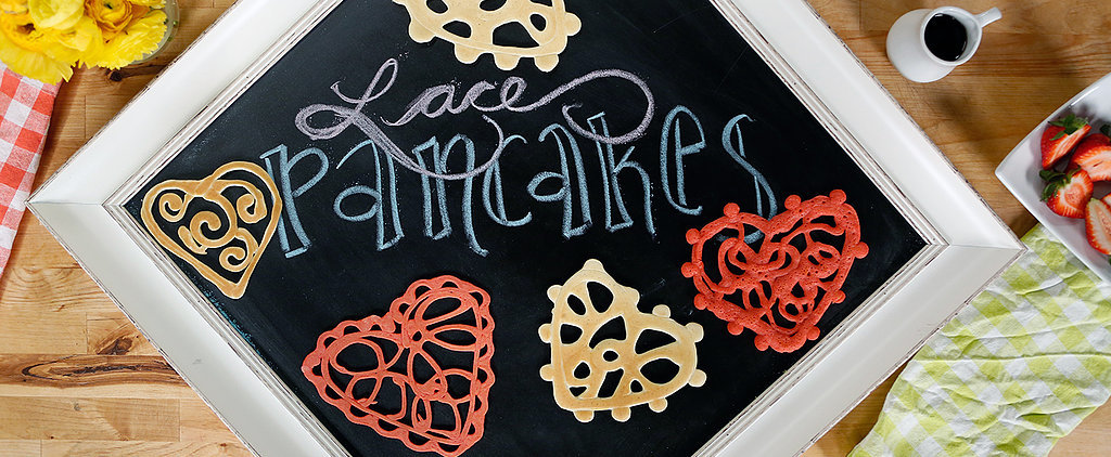Perfectly Pretty Lace Pancakes