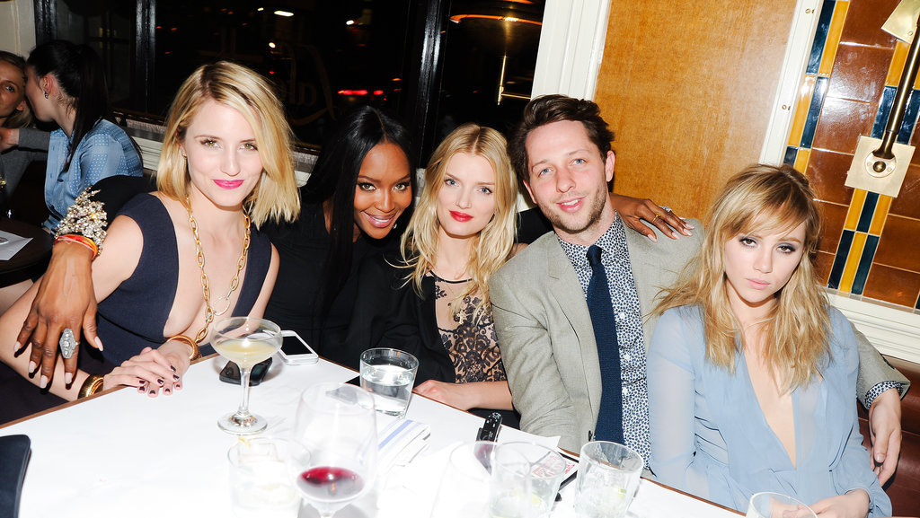 Suki Waterhouse cohosted a dinner in NYC to honor New Museum artists. Guests included Dianna Agron, Naomi Campbell, Lily Donaldson, and Derek Blasberg.