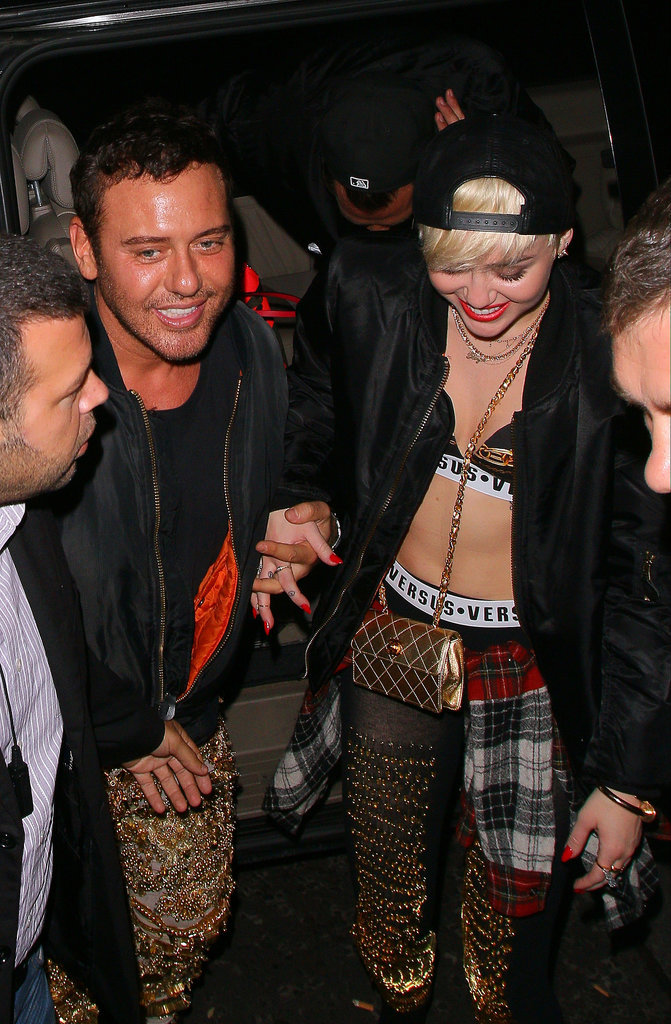 After kicking off the European leg of her Bangerz tour in London earlier in the week, Miley Cyrus on Thursday hit up celebrity hot spot Madame Jojo's. Even Kate Moss was there!