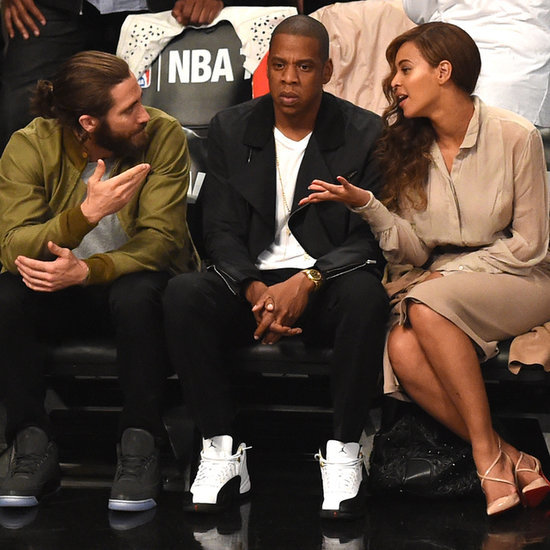 Beyonce, Jay Z, and Jake Gyllenhaal at NBA Playoffs Game