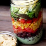 Vegetarian Mexican Recipe: Taco Salad In a Jar