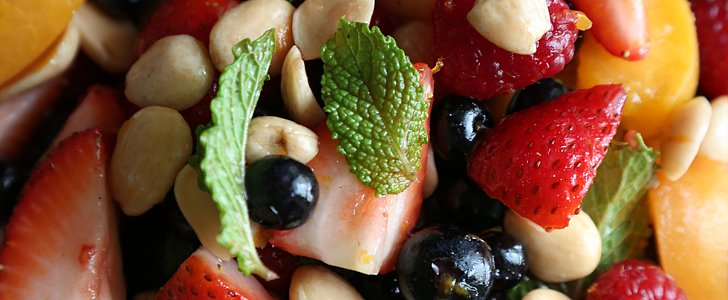 A Berry Bountiful Fruit Salad With Mint