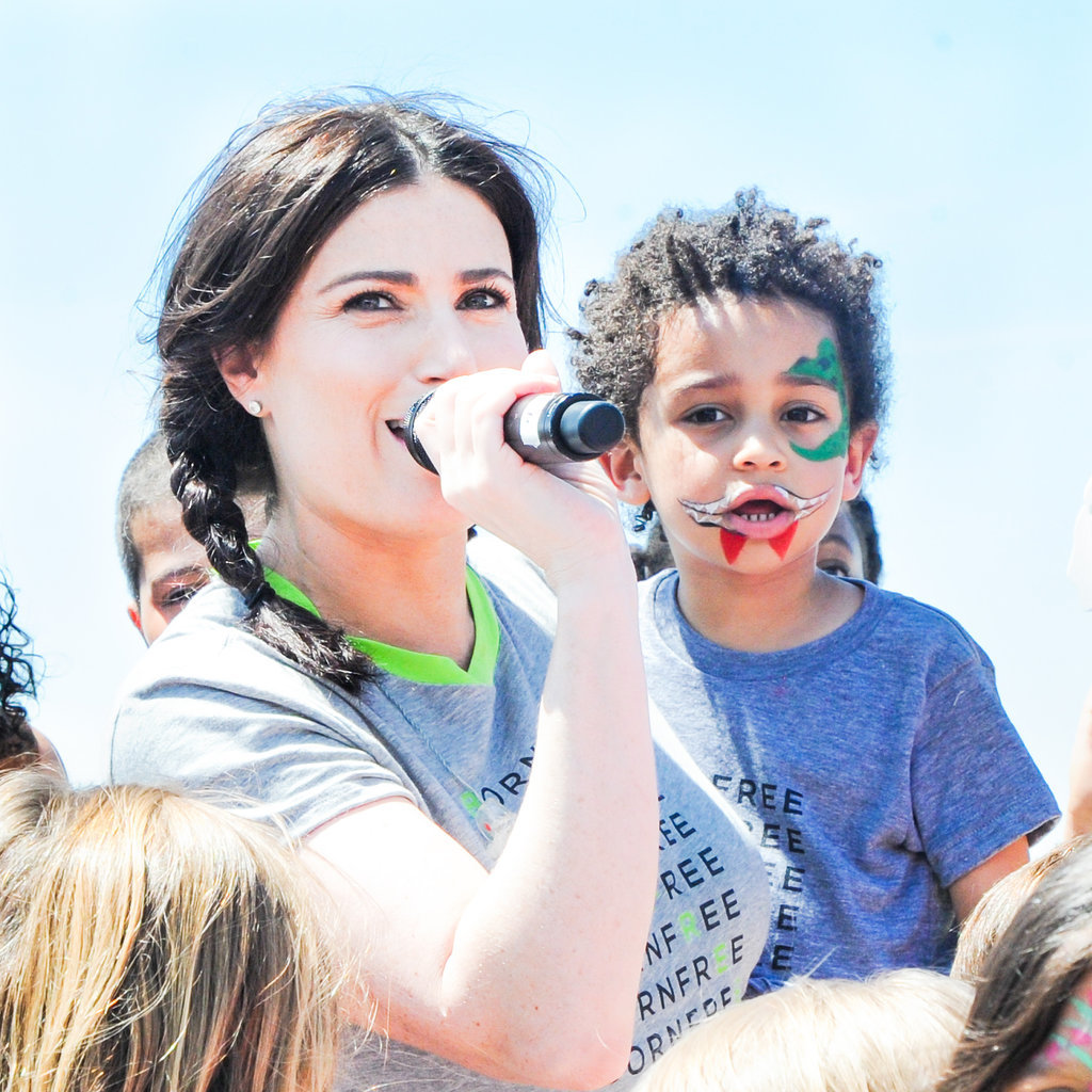Idina Menzel sang with her son, Walker Diggs.