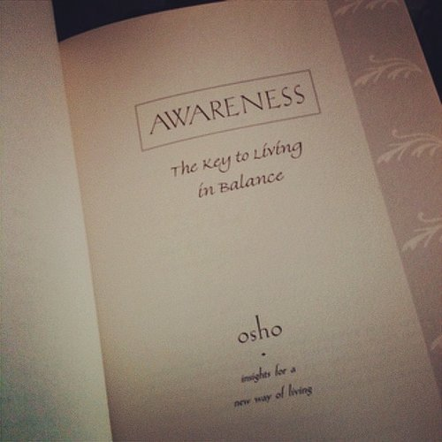 Sochristic shared what they were reading that day: Awareness.