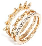 BaubleBar Pearl Spike Ring Set