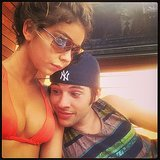 Sarah Hyland's boyfriend, Matt Prokop, got an eyeful. Source: Instagram user therealsarahhyland