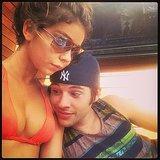 Sarah Hyland's boyfriend, Matt Prokop, got an eyeful. Source: Instagram user therealsarahhyland