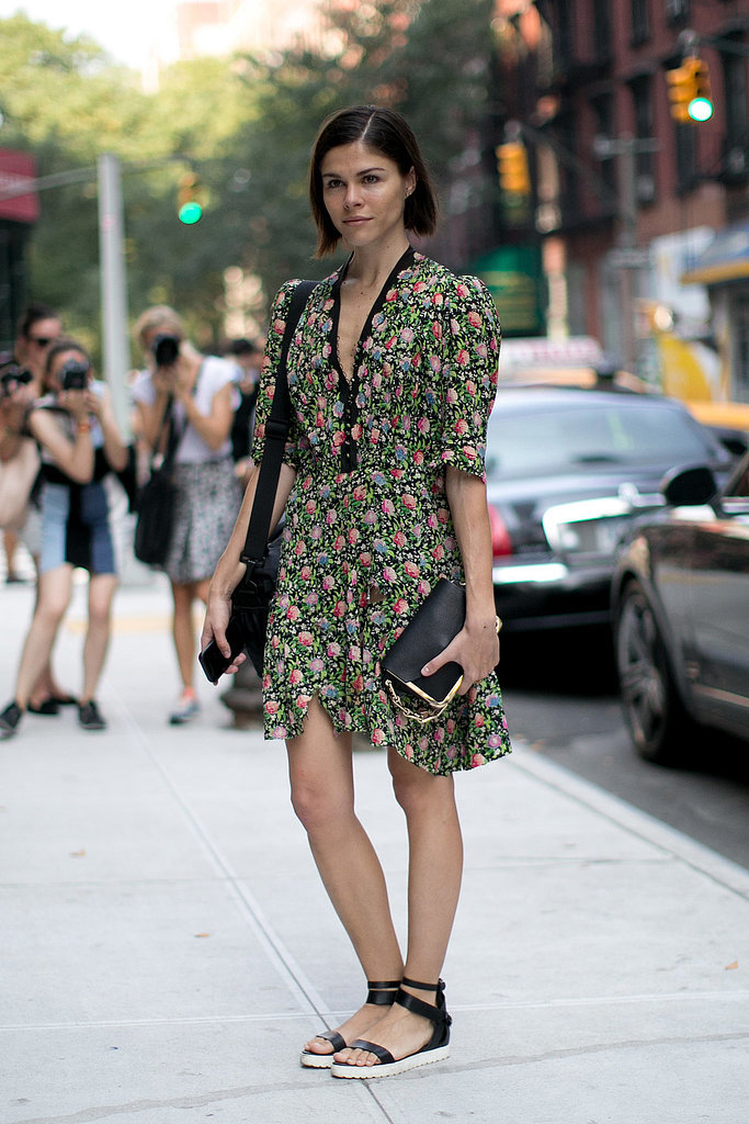 Emily Weiss added interest to pretty florals with Summer-camp-inspired kicks.