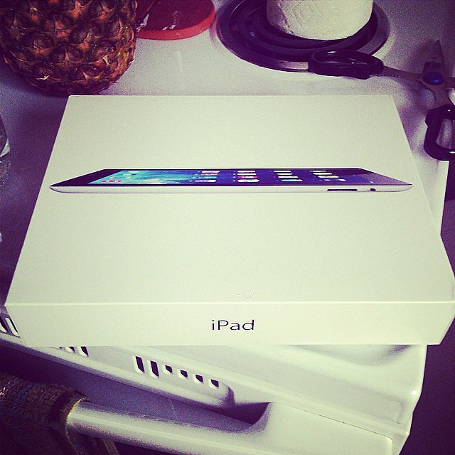 An iPad to Use Hashtagged #imaluckywoman