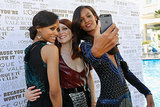 Zoe Saldana, Julianne Moore, and Liya Kebede posed for a snap at the Mr. Turner premiere on Thursday.