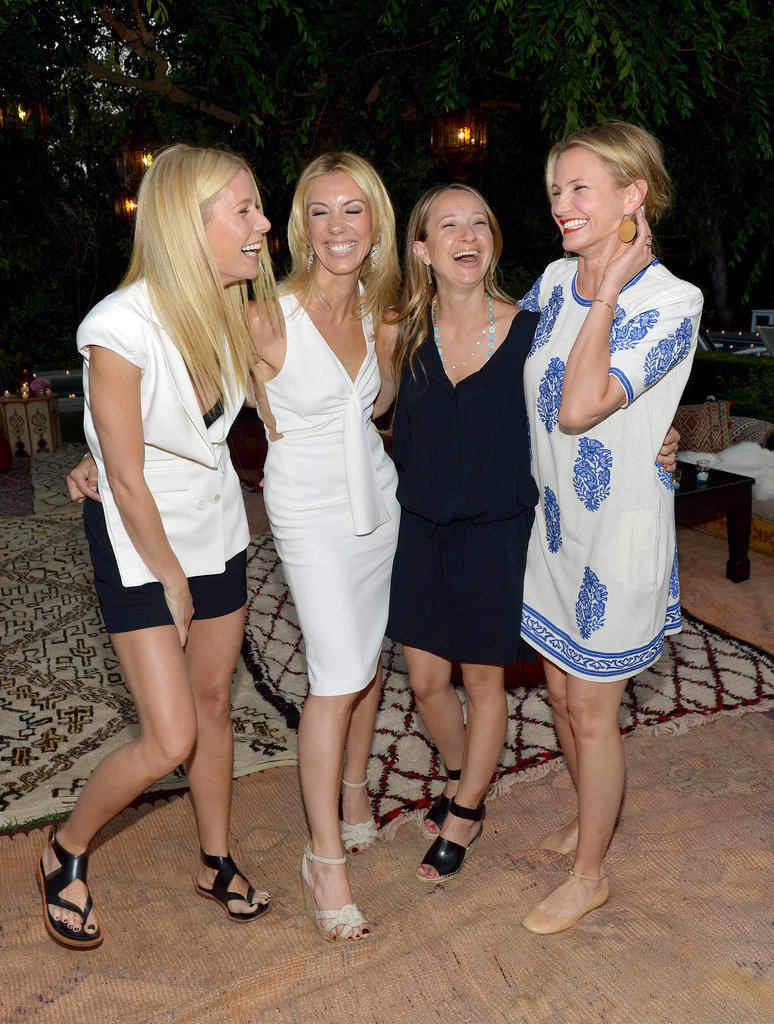 Gwyneth Paltrow, Vicky Vlachonis, Jennifer Meyer, and Cameron Diaz shared a big laugh at a Goop party in LA.