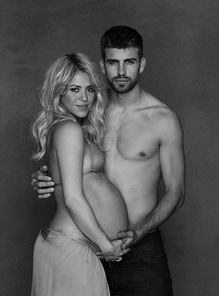Shakira Showed Off Her Full Pregnant Belly Just Before Giving Birth