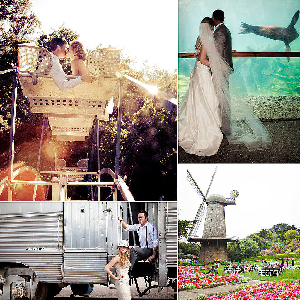 "A zoo, a carnival, a boat. ""Wedding"" probably isn't the first thing that comes to mind when you think of these places, but trust POPSUGAR Smart Living when they say they're great venue options for your big event. Not only are many of them fun spots to celebrate the special occasion, but the best part is that they're really affordable. Check out these unique ideas for a special day you certainly won't forget. Source: Style Me Pretty  and Green Wedding Shoes"