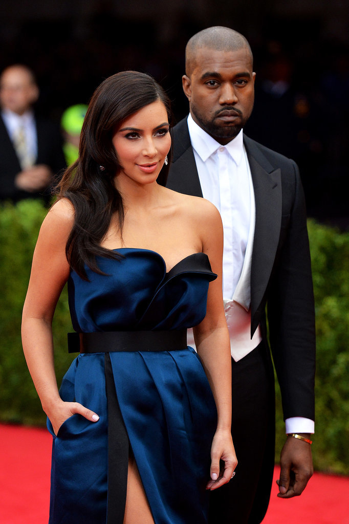 Kim Kardashian and Kanye West made their second Met Gala appearance in May 2014.