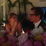 Colin Firth made Suki Waterhouse giggle at a dinner. Source: Instagram user sukiwaterhouse