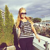 Paris Hilton showed love for her namesake town while checking out her hotel in Cannes. Source: Instagram user parishilton