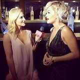 We interviewed Rita Ora before her big performance. Source: Instagram user popsugar