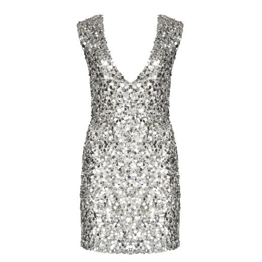 Silver sequined mini