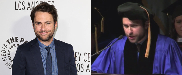 Prepare to Be Deeply Moved by Charlie Day's Inspiring Commencement Speech