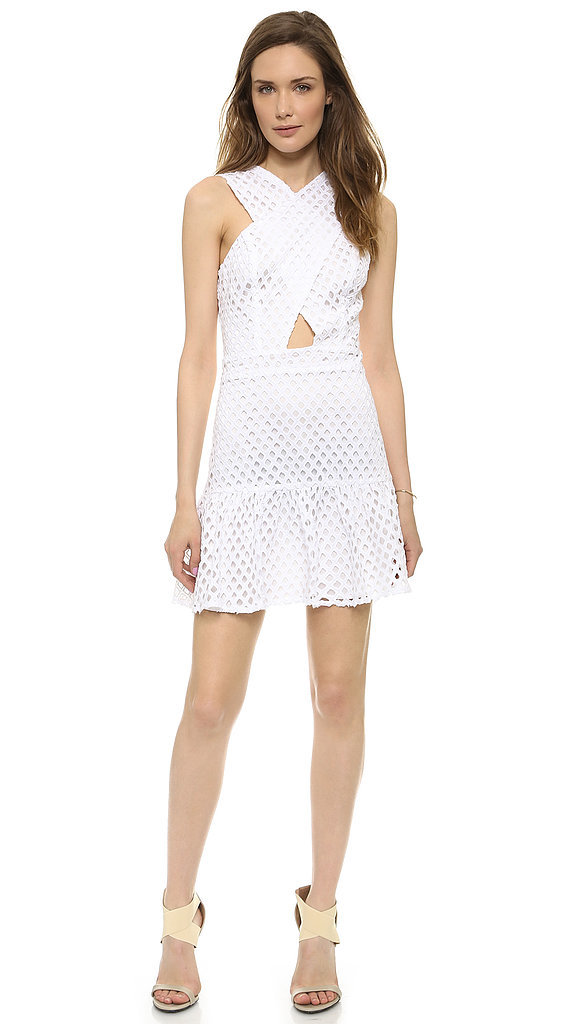 Line & Dot Eyelet White Dress