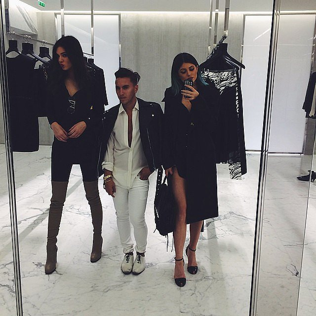 Kendall and Kylie went shopping at Saint Laurent.  Source: Instagram user kyliejenner