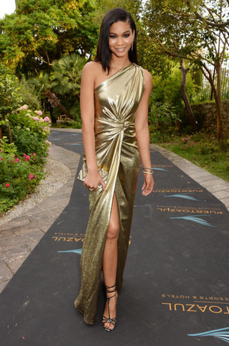 Chanel Iman at Puerto Azul Experience Night