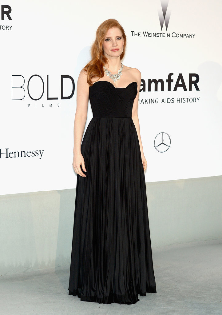 Jessica Chastain at the amfAR Cinema Against AIDS Gala