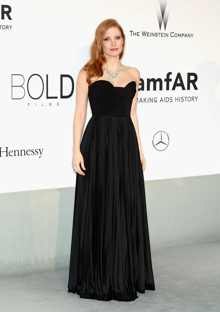 Jessica Chastain at the amfAR Cinema Against AIDS Gala