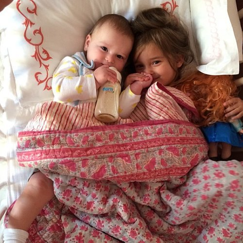 Arabella and Joseph Kushner got snuggly for their mom Ivanka Trump's camera. Source: Instagram user ivankatrump