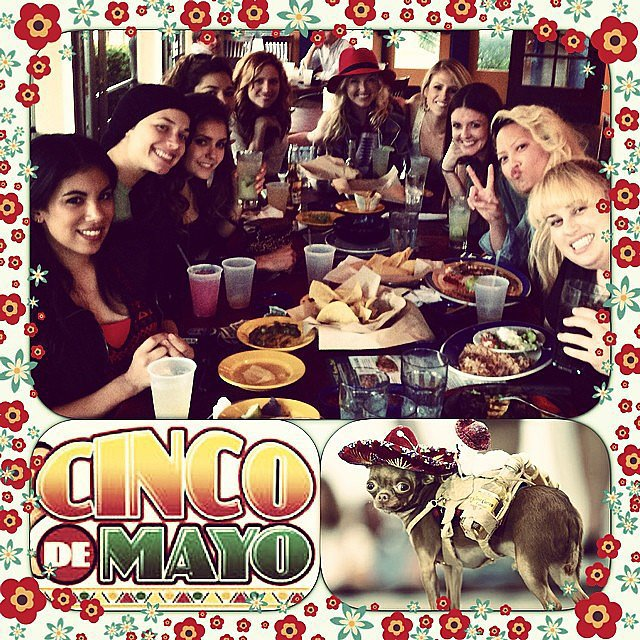 Don't you wish you could have celebrated Cinco de Mayo with the cast of Pitch Perfect 2? Source: Instagram user hanamaelee