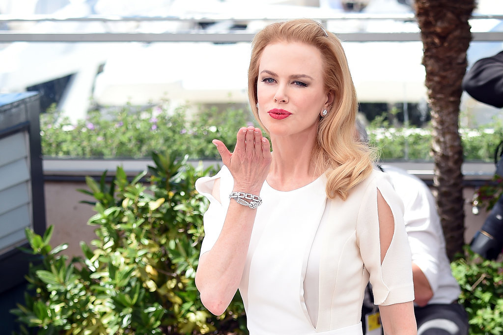 Nicole Kidman blew a kiss to the crowd.