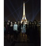 Kim visited the Eiffel Tower with her girlfriends. Source: Instagram user kimkardashian