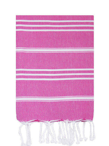 If you're expecting guests this Summer, freshen up your powder room with a pair of striped hand towels ($19).