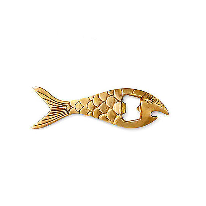 A fish bottle opener ($18) will make your bar cart Summer ready.