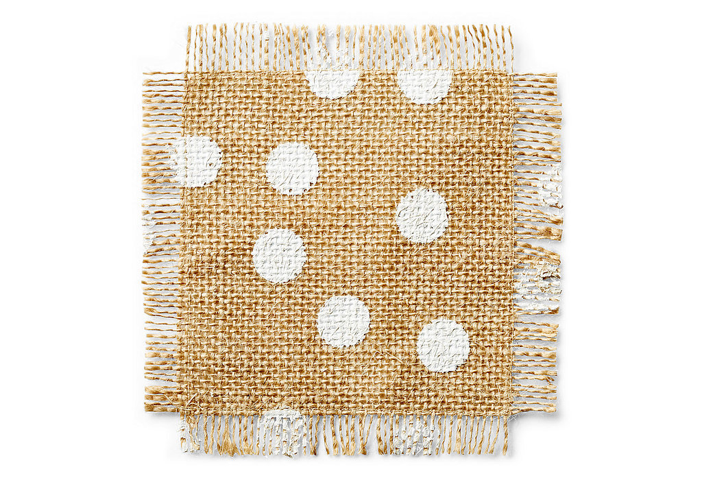 These polka-dot coasters ($12) make the perfect hostess gift.