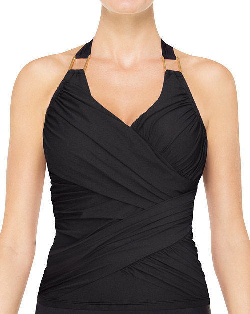 Spanx Whittle Waistline Draped Tankini Top