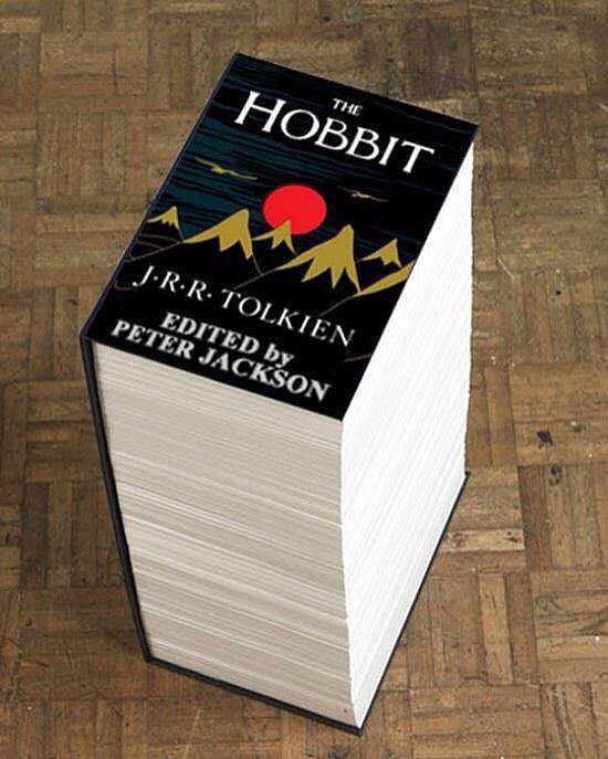 """The Hobbit, By Peter Jackson."" Source: Reddit user DividingPrescott via Imgur"