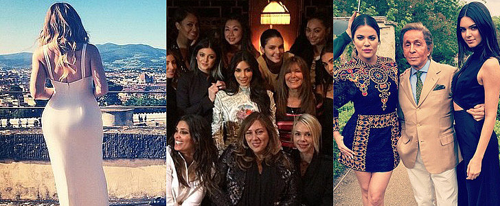 The Kardashian Family's Personal Wedding Instagram Diary