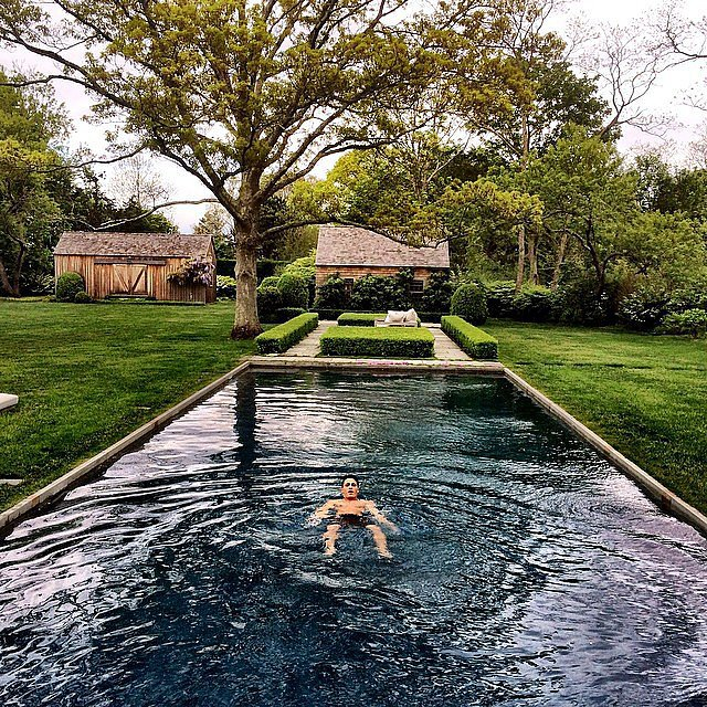 Colton Haynes had a float in the pool. Source: Instagram user coltonlhaynes
