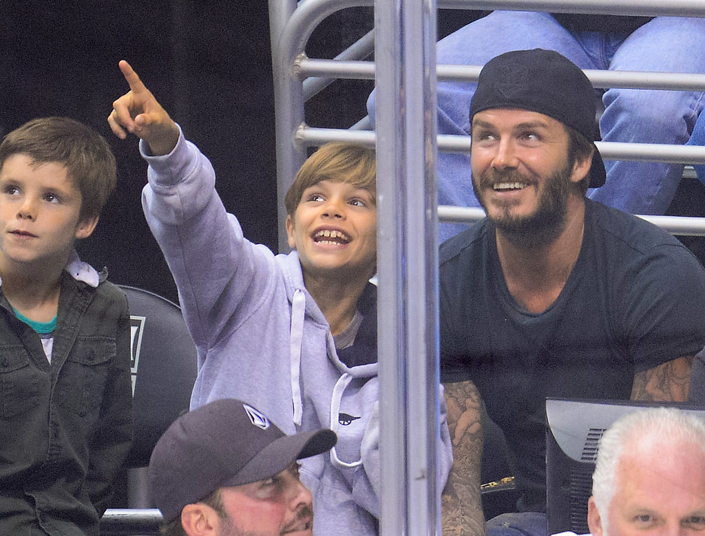 David Beckham Has a Boys-Only Game Day With His Sons