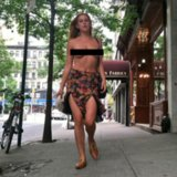 Scout Willis Walking Topless in NYC in Instagram Protest