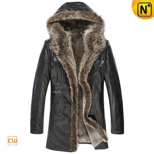 Sheepskin Leather Coat for Men CW877158