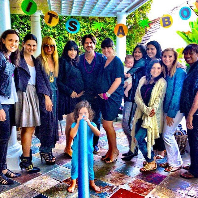 Skyler Berman joined his parents at a baby shower for two moms-to-be who work for Rachel Zoe. Source: Instagram user rachelzoe