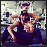Kelly Osbourne fit in a workout with trainer Fred Khorshidi. Source: Instagram user kellyosbourne